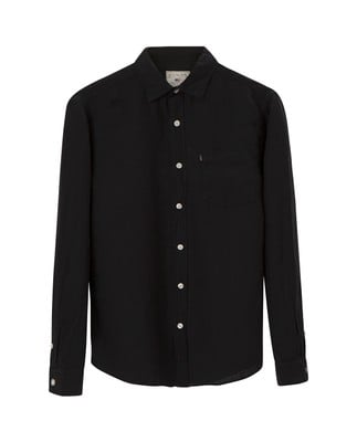 Ryan Linen Shirt, Caviar Black
