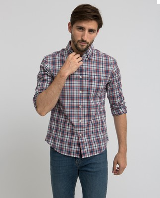 Jones Checked Shirt, Red/Blue/White Check