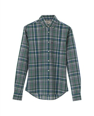 Jones Checked Shirt, Green Multi Check
