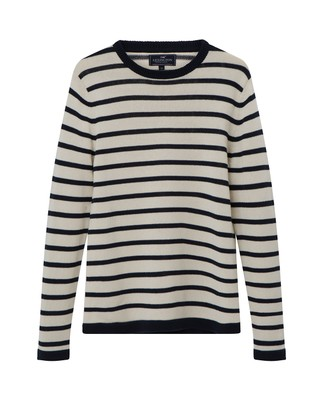 Lincoln Striped Sweater, Blue/White Stripe