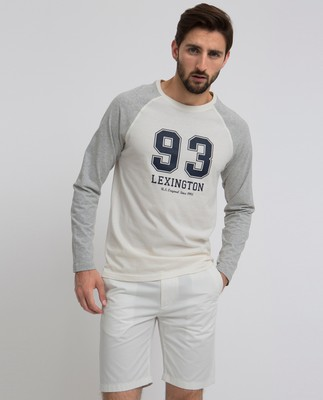 Seth Long Sleeve Tee, Bone White