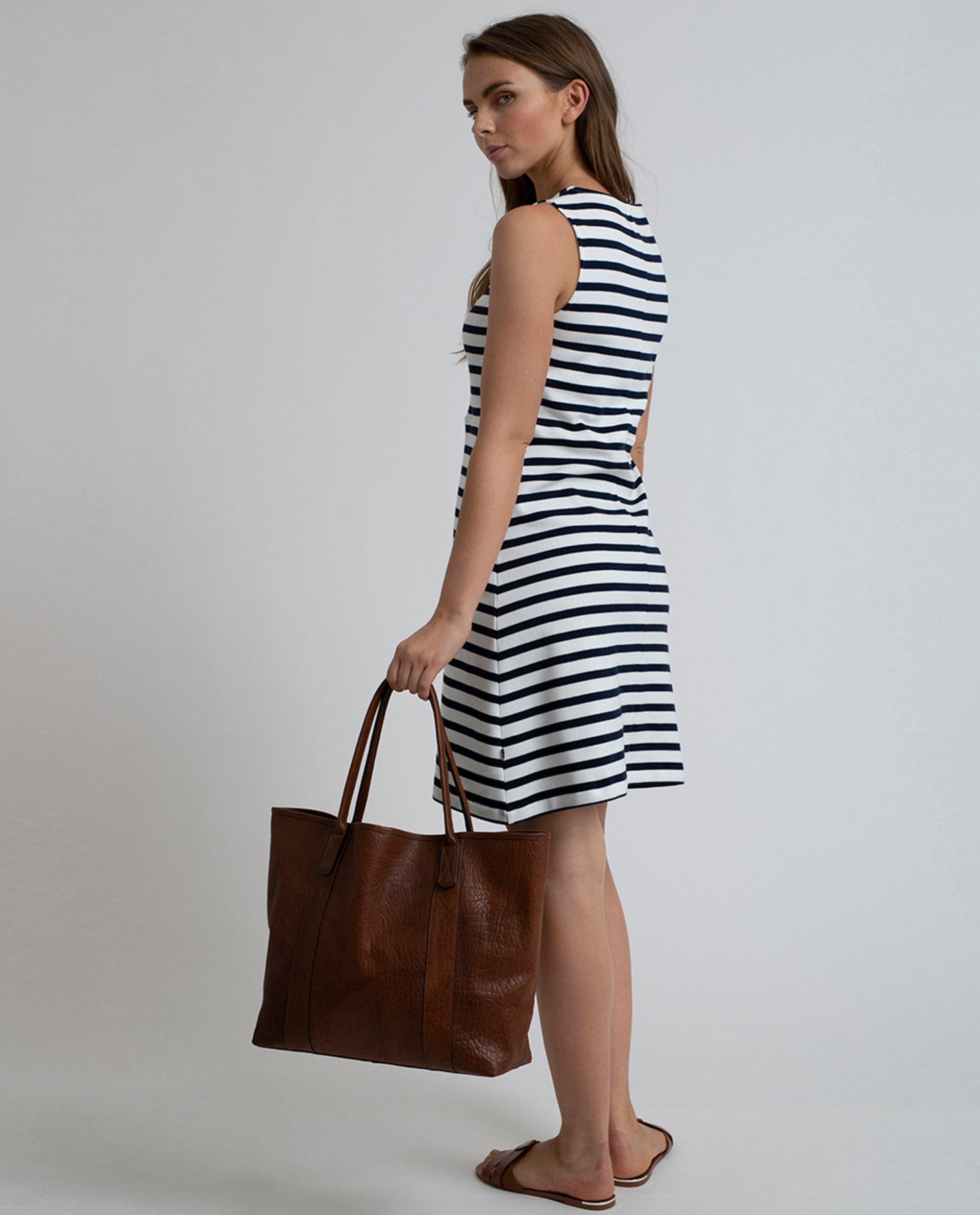 Mayflower Leather Tote Bag, Cognac