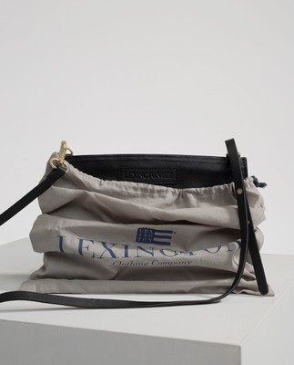 Wingfield Leather Zip Bag, Caviar Black