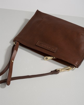 Wingfield Leather Zip Bag, Cognac
