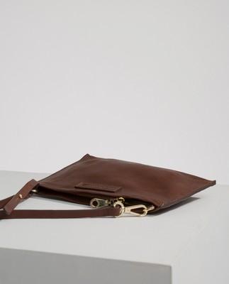 Wingfield Leather Zip Bag, Cognac