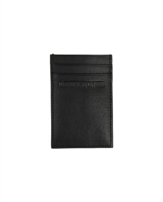 Hobson Leather Cardholder, Caviar Black