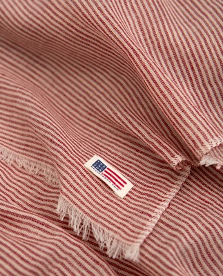 Colombus Scarf, Red/White Stripe