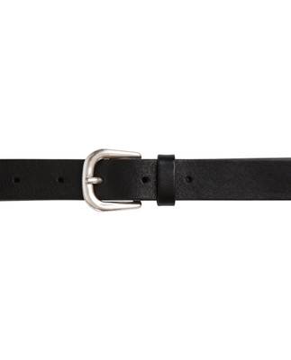 Fairview Leather Belt, Caviar Black
