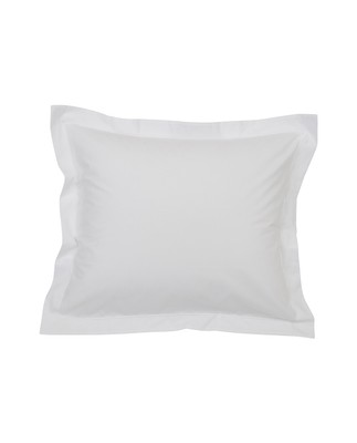 Hotel Percale White/White Pillowcase