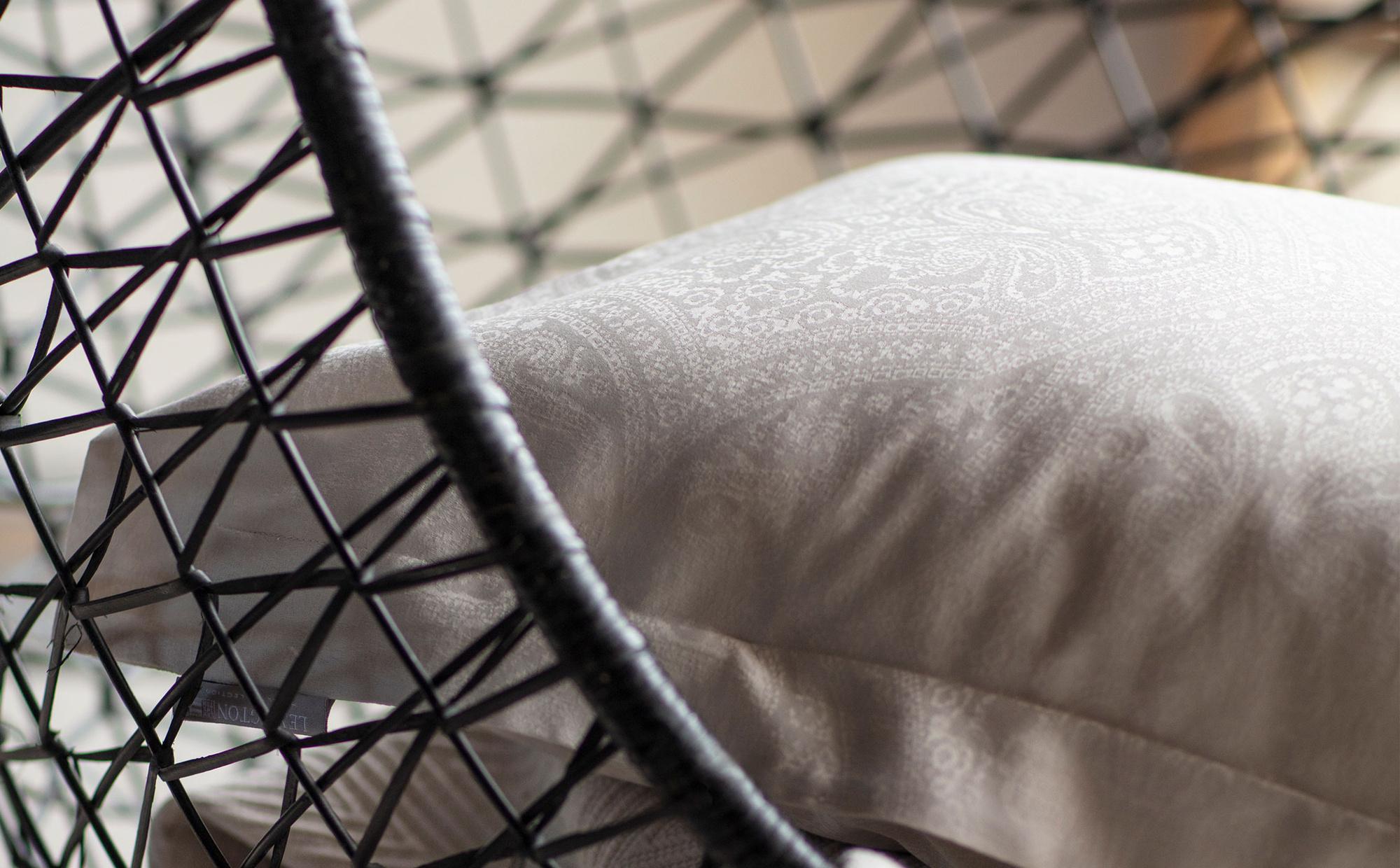 Hotel Sateen Jacquard Lt Beige Pillowcase