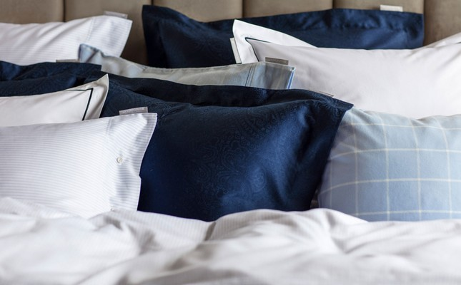 Hotel Sateen Jacquard Blue Pillowcase