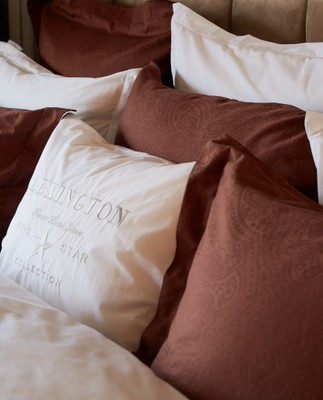 Hotel Sateen Jacquard Chestnut Pillowcase
