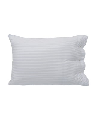Hotel Lyocell Stripe White/Blue Pillowcase