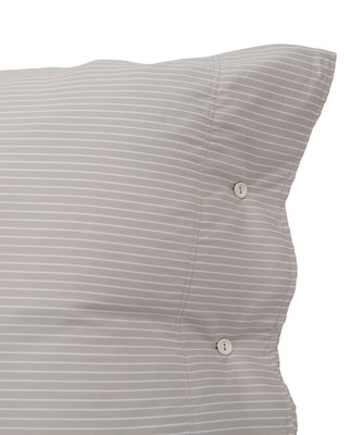 Hotel Lyocell Stripe Lt Beige/White Pillowcase