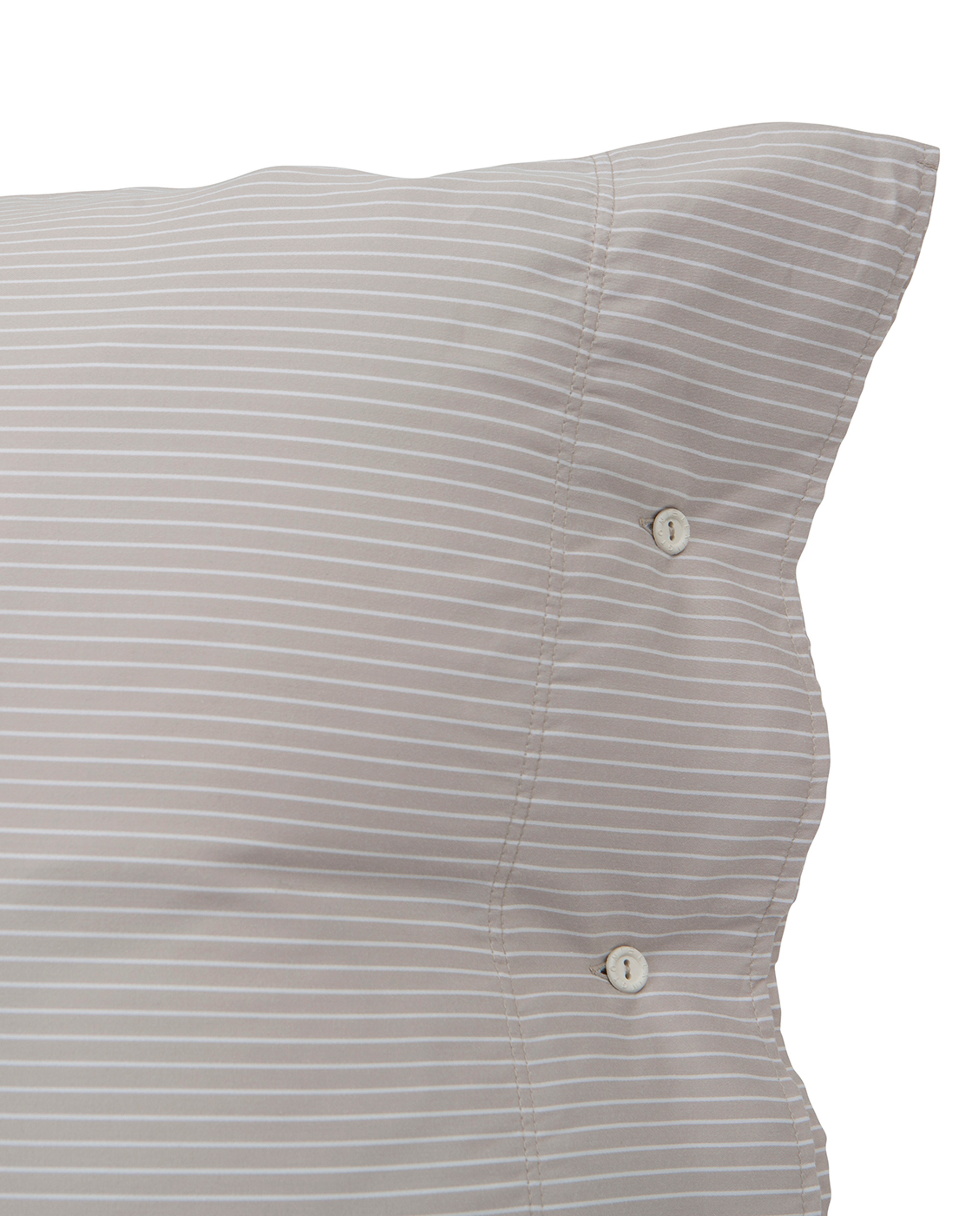 Hotel Tencel Stripe Lt Beige/White Pillowcase