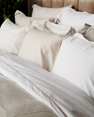 Hotel Light Flannel White/Lt Beige Duvet
