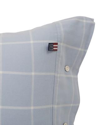 Hotel Light Flannel Lt Blue/White Pillowcase