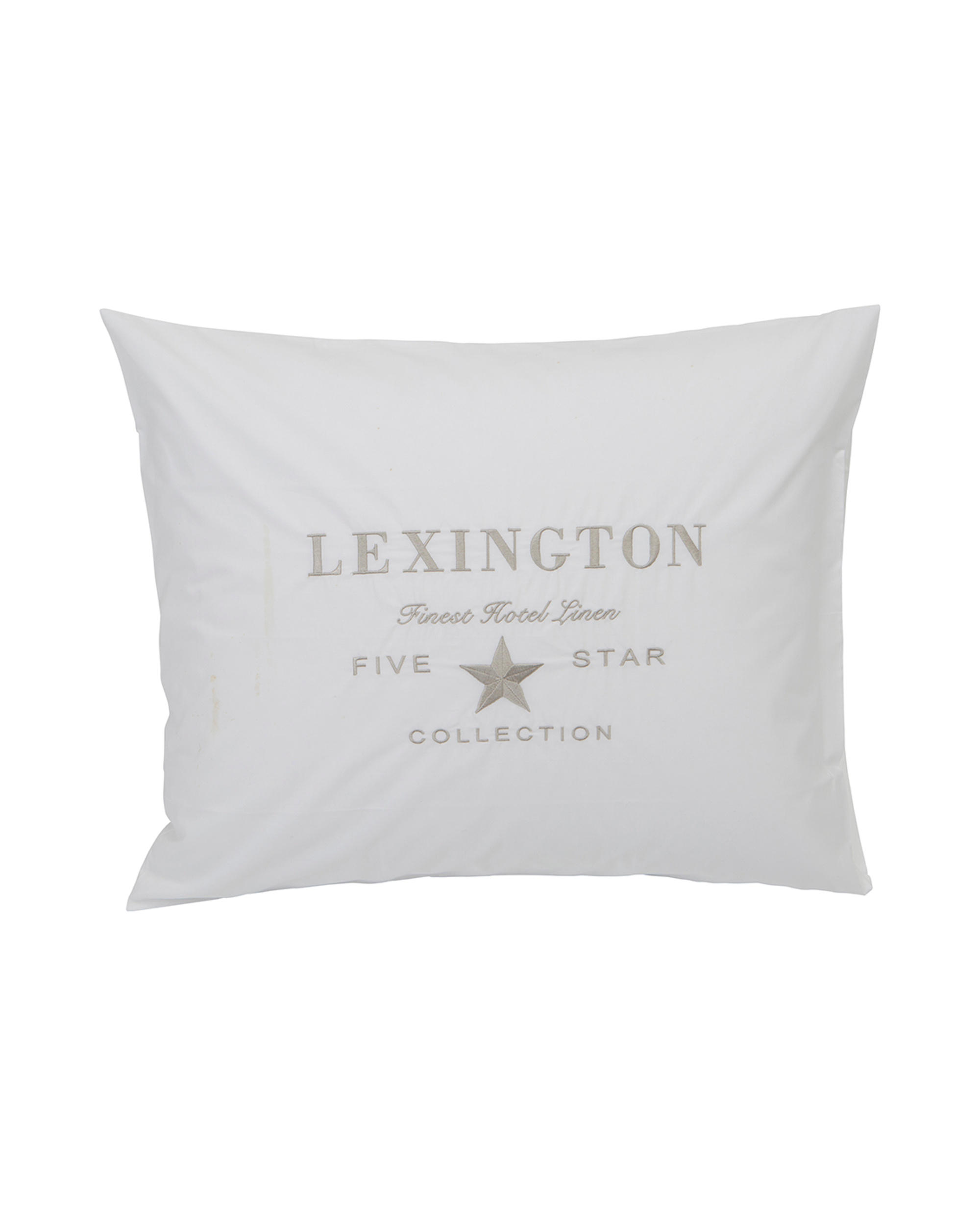 Hotel Embroidery White/Lt Beige Pillowcase