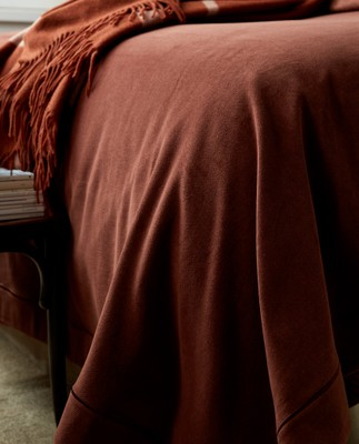 Hotel Velvet Bedspread Chestnut