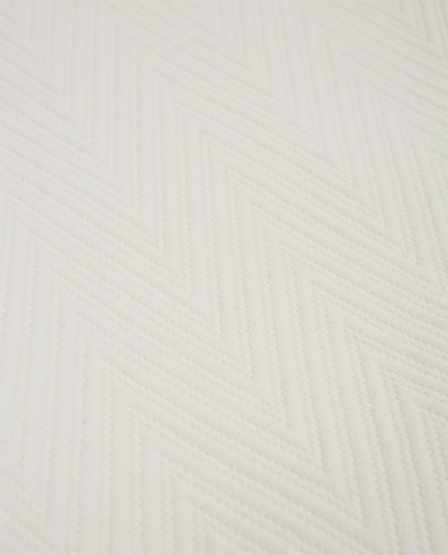 Hotel Herringbone Bedspread, Off White
