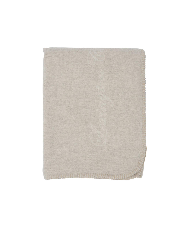 Hotel Blanket, White/Lt. Beige