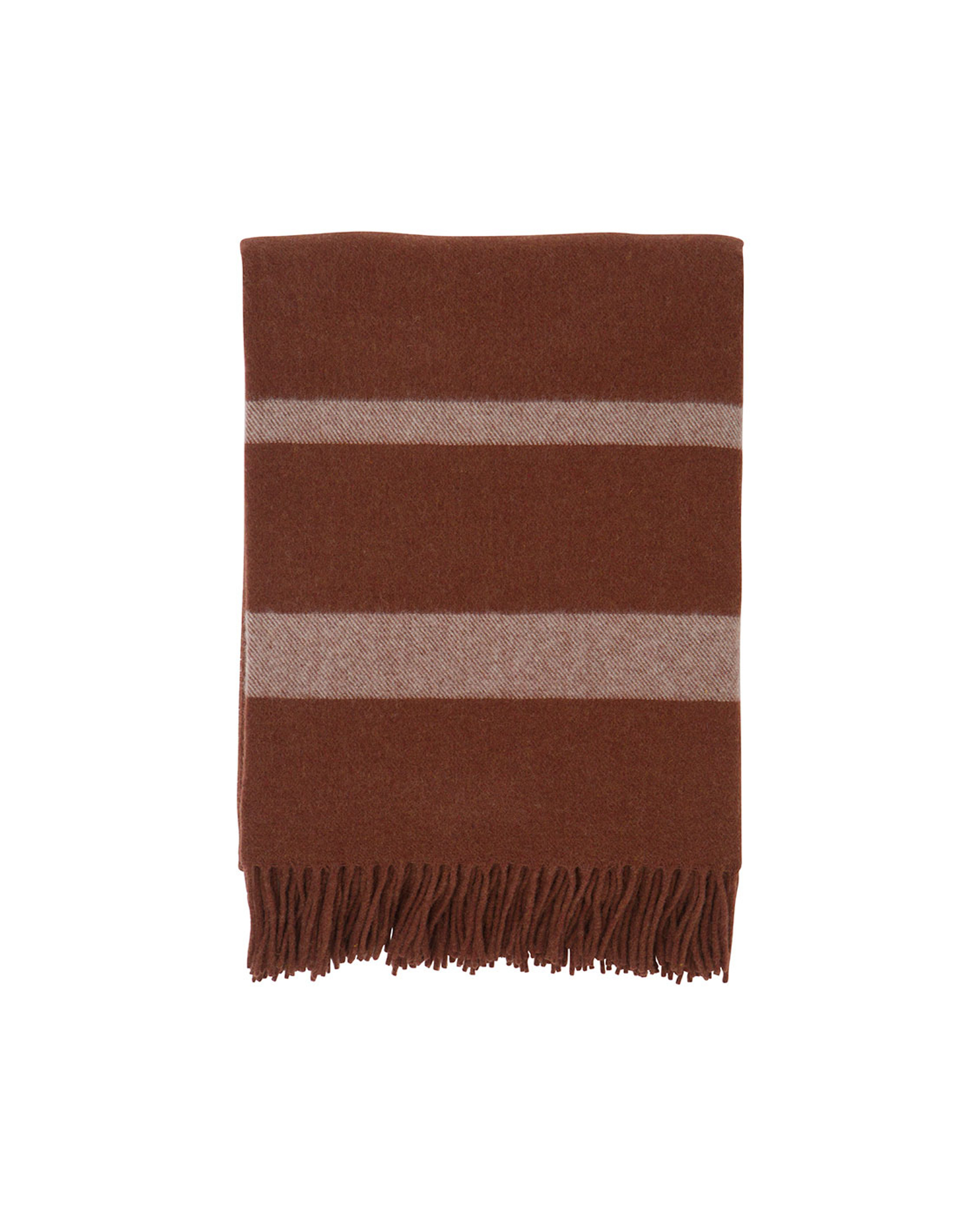 Hotel Wool Throw, Chestnut/White