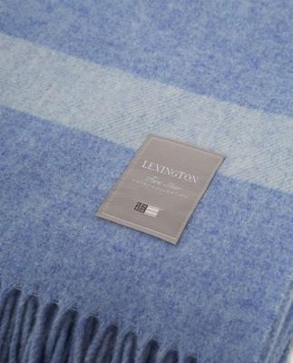 Hotel Wool Throw, Blue/White
