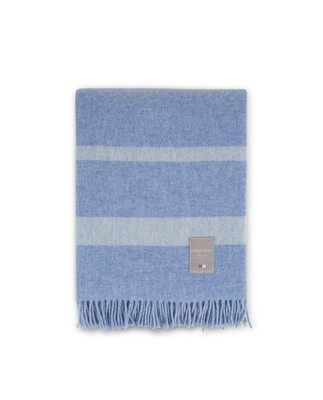 Hotel Wool Throw, Blue/White