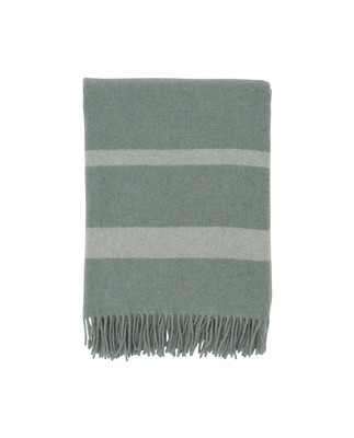 Hotel Wool Throw, Green/White