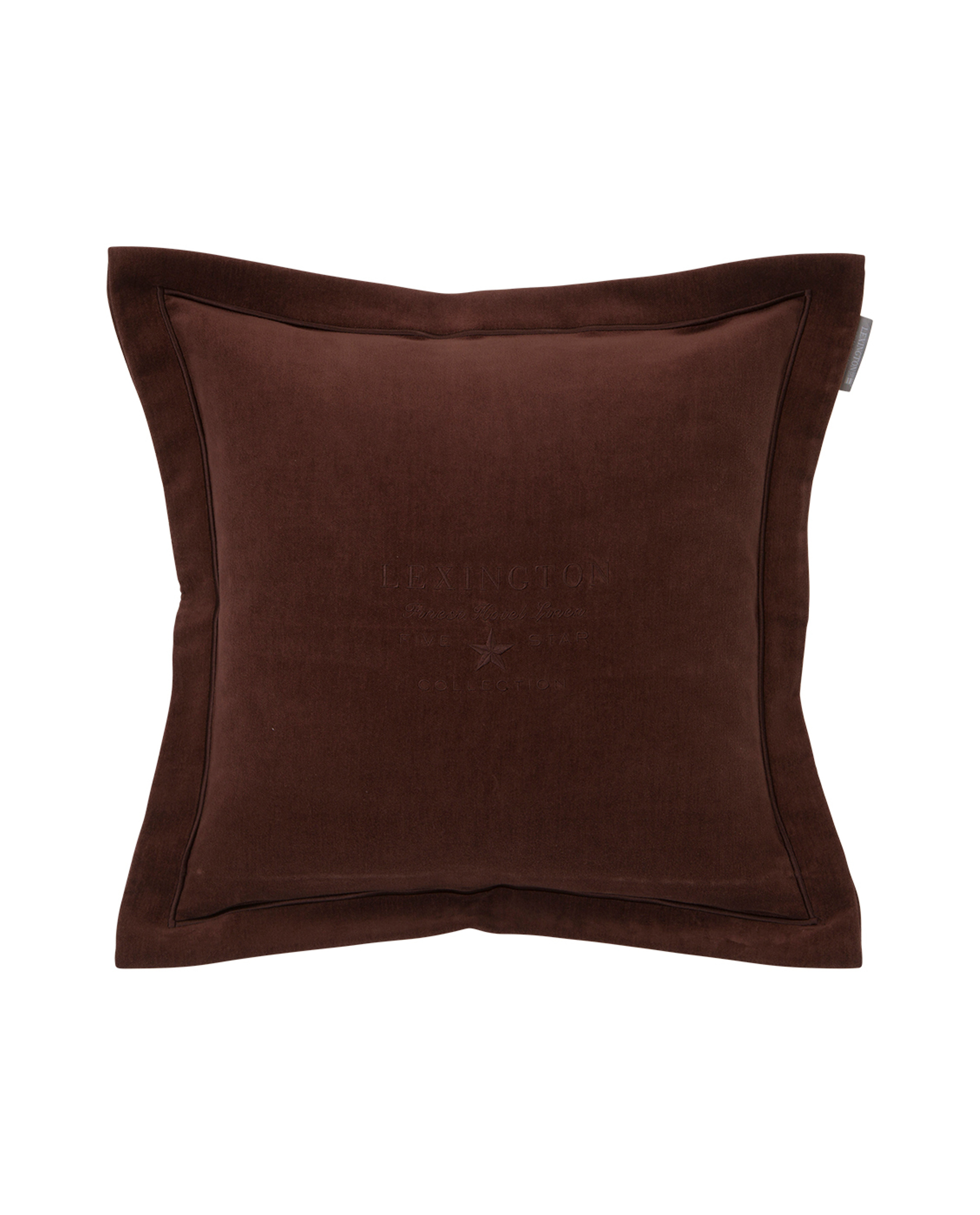 Hotel Velvet Sham with Embroidery, Chestnut