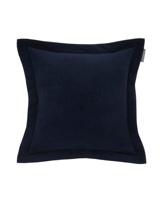 Hotel Velvet Sham with Embroidery, Dk. Blue