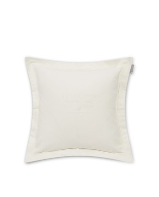 Hotel Velvet Sham with Embroidery, Off White