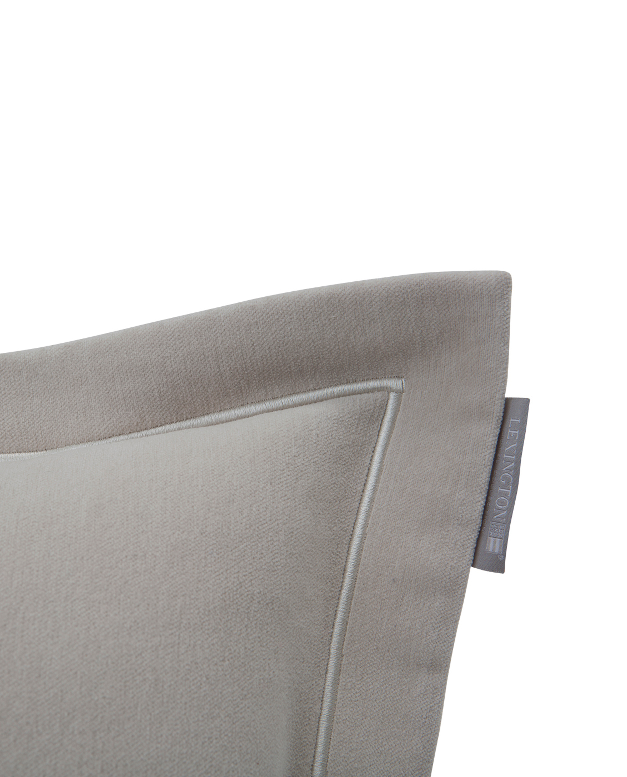 Hotel Velvet Sham with Embroidery, Beige