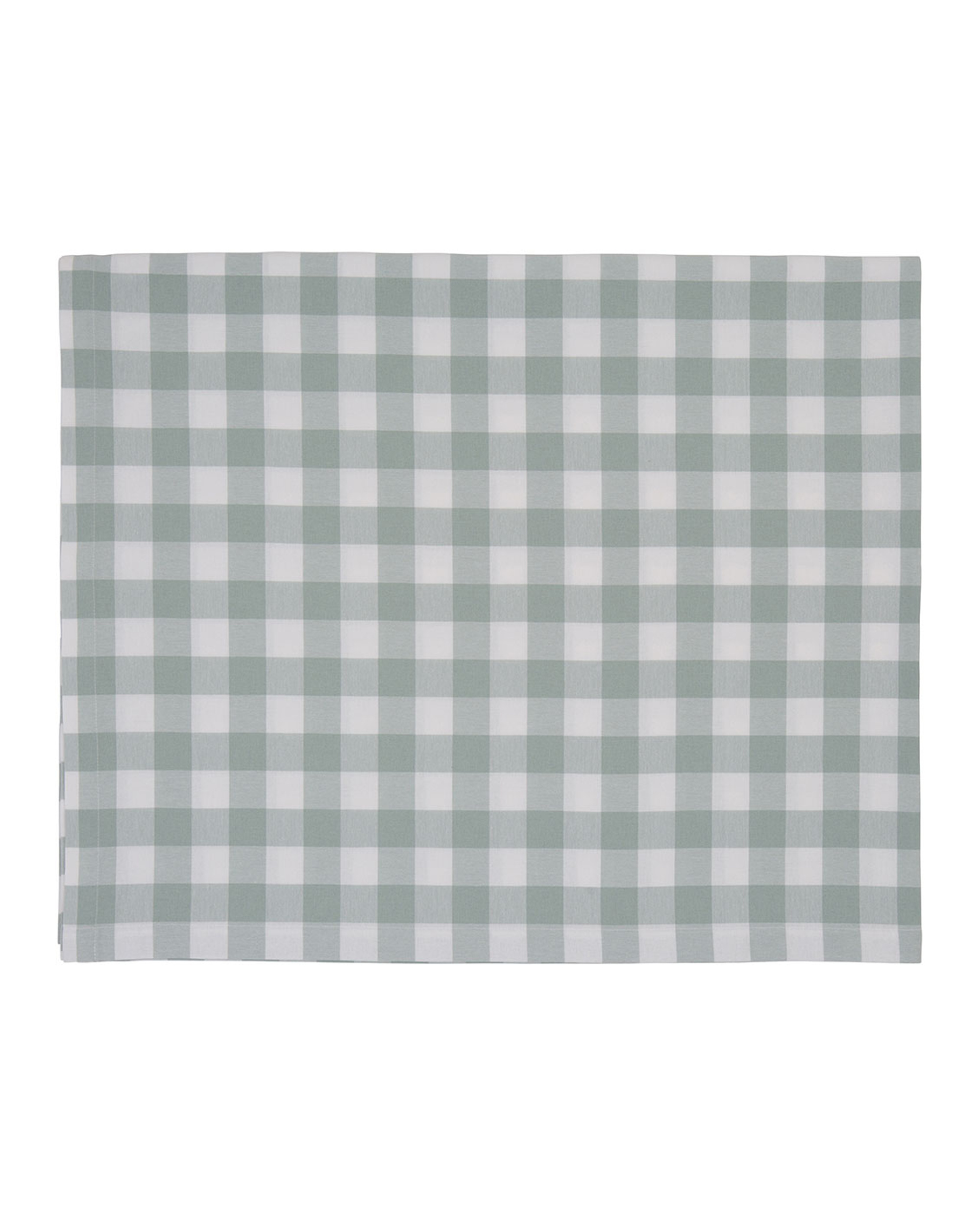 Hotel Gingham Tablecloth, White/Green