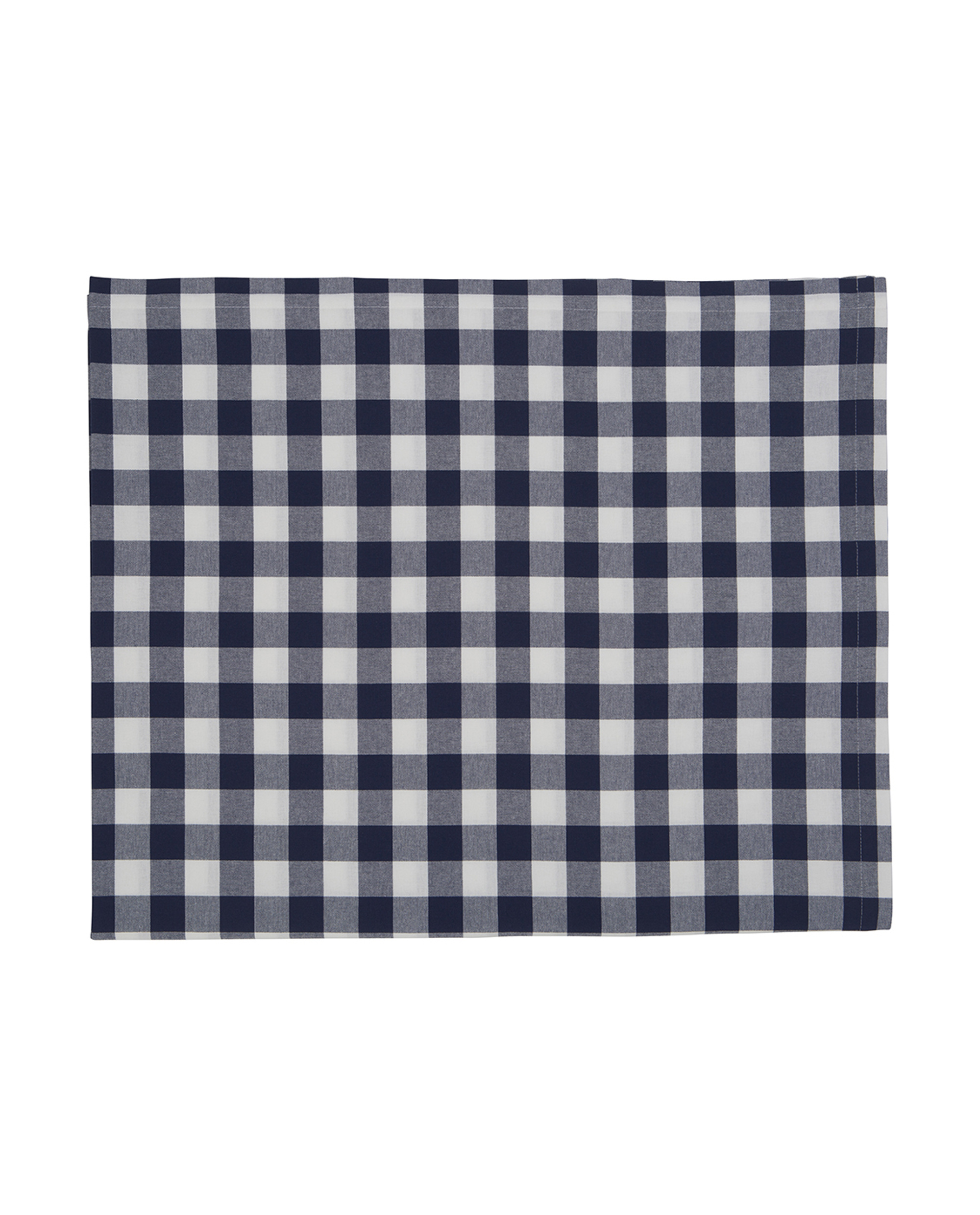 Hotel Gingham Tablecloth, White/Blue