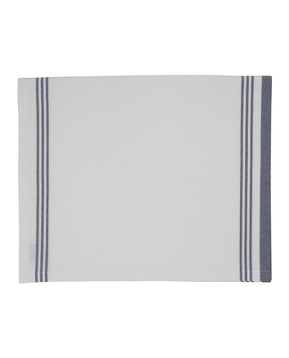 Hotel Striped Tablecloth, White/Blue