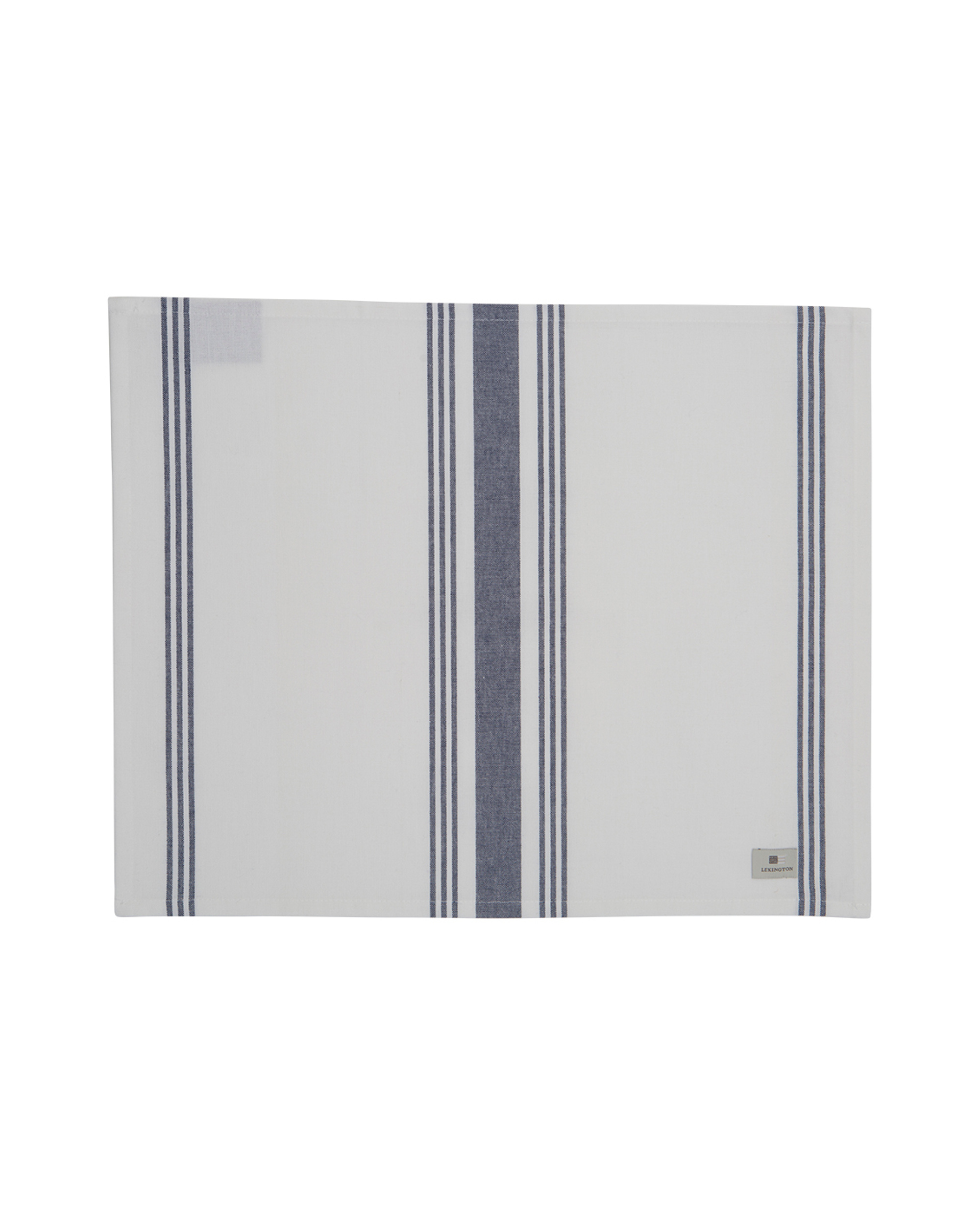 Hotel Striped Placemat, White/Blue