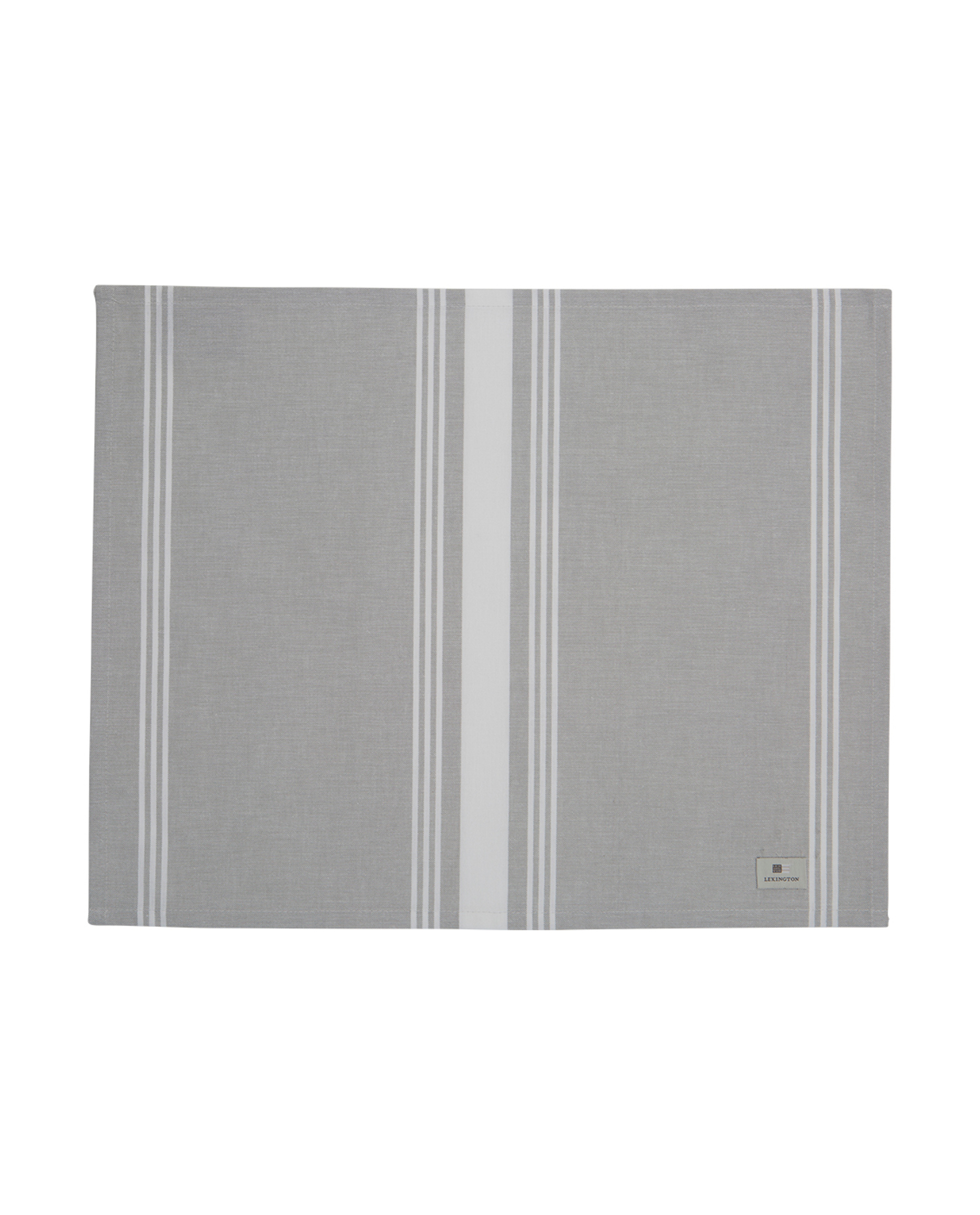 Hotel Striped Placemat, Gray/White