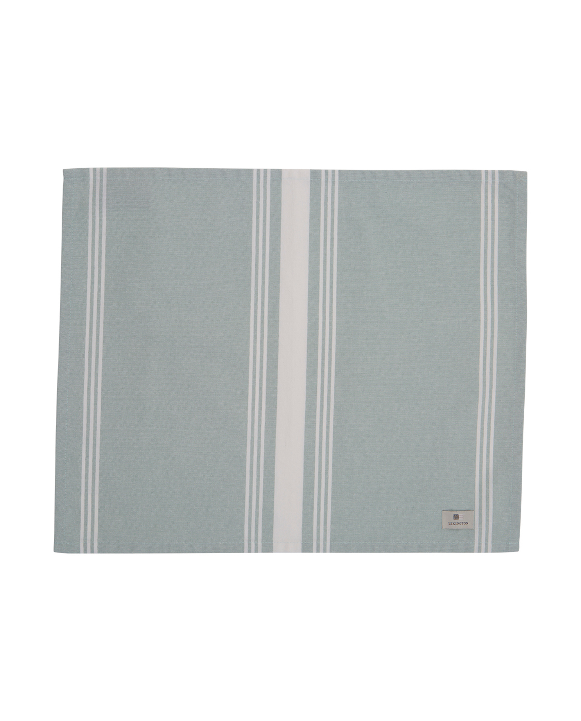 Hotel Striped Placemat, Green/White