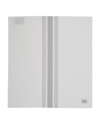 Hotel Striped Napkin, White/Gray