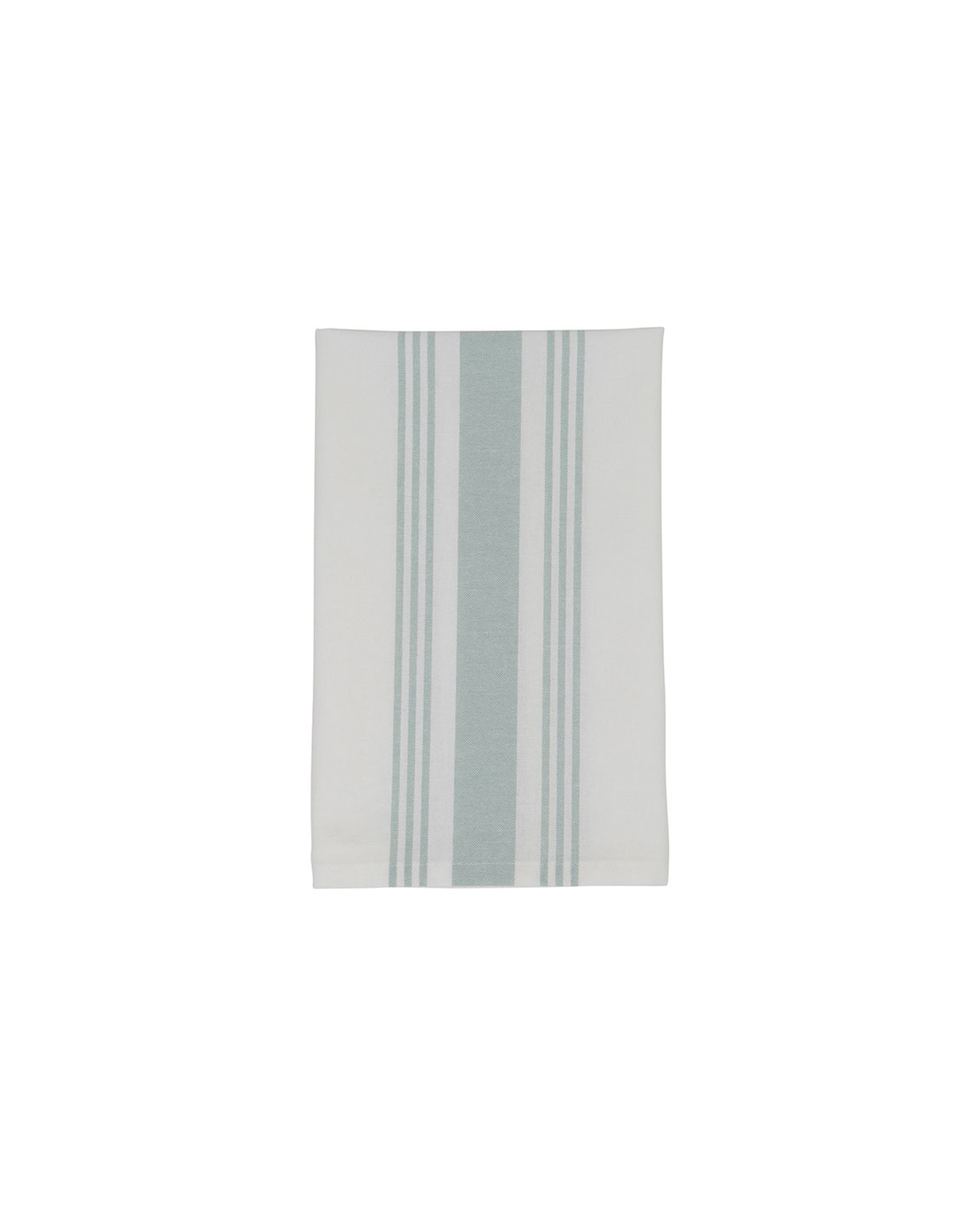 Hotel Striped Napkin, White/Green