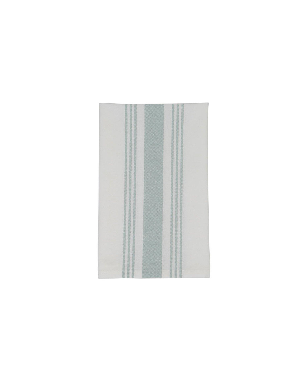 Hotel Striped Napkin, White/Green