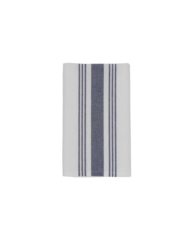 Hotel Striped Napkin, White/Blue