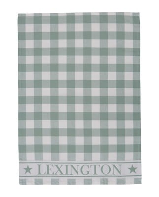 Hotel Gingham Kitchen Towel, White/Green