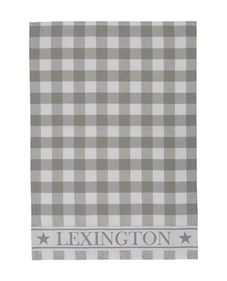 Hotel Gingham Kitchen Towel, White/Gray