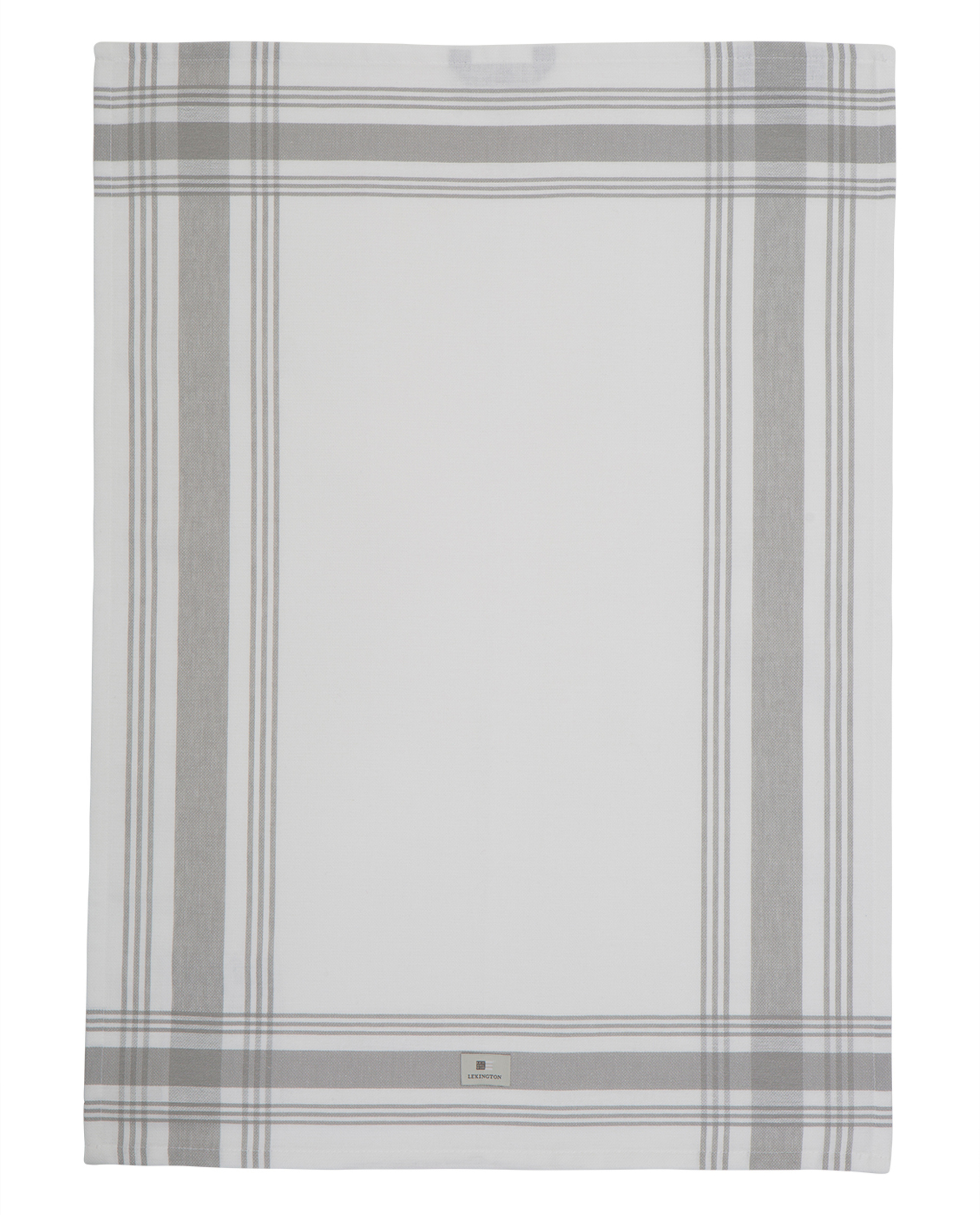 Hotel Framed Kitchen Towel, White/Gray