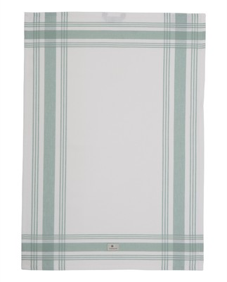 Hotel Framed Kitchen Towel, White/Green