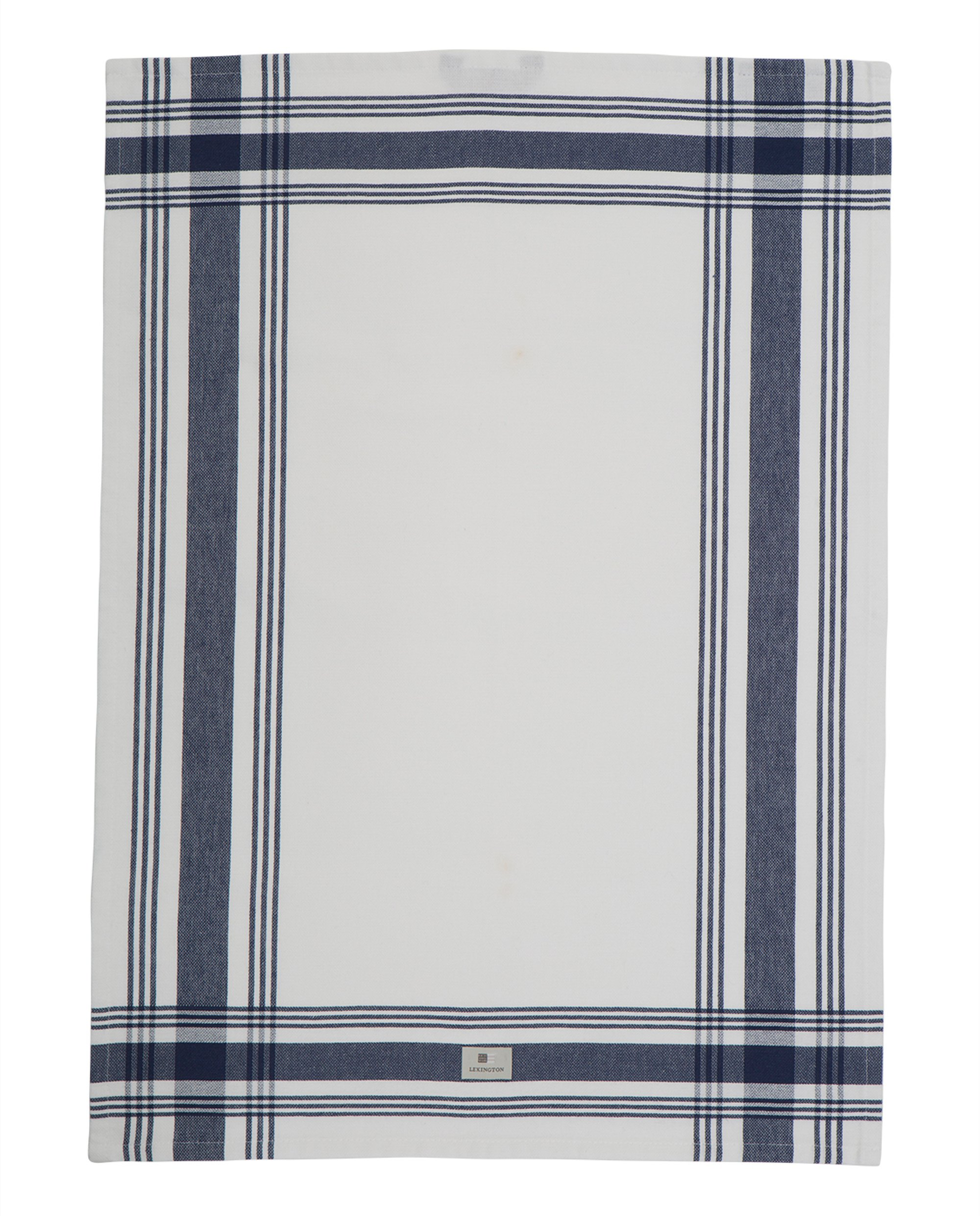Hotel Framed Kitchen Towel, White/Blue