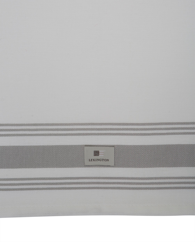Hotel Framed Kitchen Towel, White/Gray