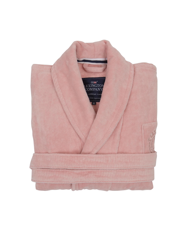 Unisex Hotel Velour Robe, Pink